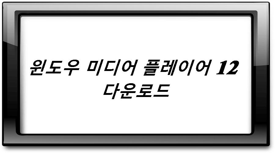 윈도우 미디어 플레이어 다운로드