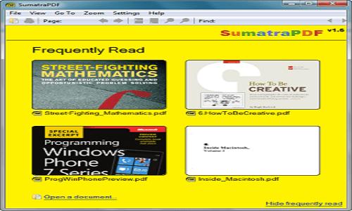 가벼운 PDF 전자책 및 eBook PC 뷰어 - Sumatra PDF