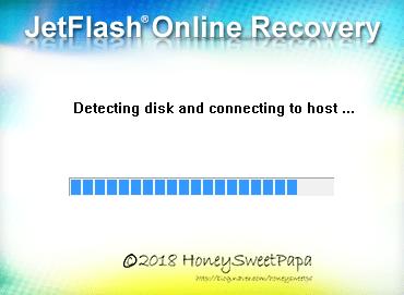 연결된 USB 플래시 드라이브 인식중