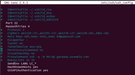 SSH 서버 구성 설정