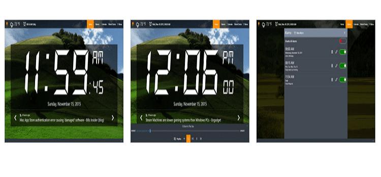 윈도우 알람 프로그램 Alarm Clock HD